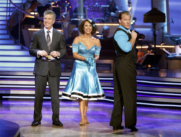 Chris Jericho and his partner Cheryl Burke received 23 out of 30 from the judges for their Quickstep on week 2 of 'Dancing With The Stars' on Monday, March 28, 2011. Combined with the first week scores of 19 out of 30 their total is