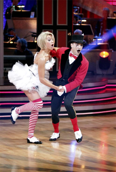"<div class=""meta image-caption""><div class=""origin-logo origin-image ""><span></span></div><span class=""caption-text"">Chelsea Kane and her partner Mark Ballas received 18 out of 30 from the judges for their Jive on week 2 of 'Dancing With The Stars' on Monday, March 28, 2011. Combined with the first week scores of 21 out of 30, their total is 39 out of 60.  (ABC Photo/Adam Taylor)</span></div>"