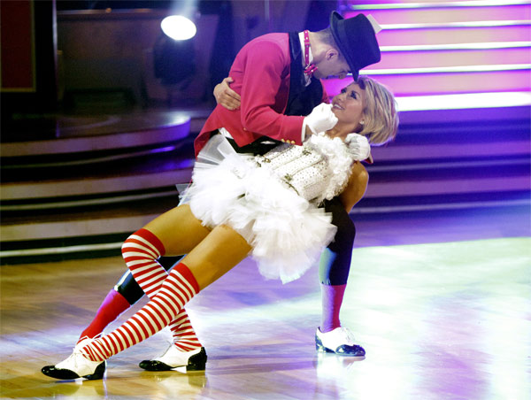 Chelsea Kane and her partner Mark Ballas received 18 out of 30 from the judges for their Jive on week 2 of 'Dancing With The Stars' on Monday, March 28, 2011. Combined with the first week scores of 21 out of 30, their total is 39 out of 60.