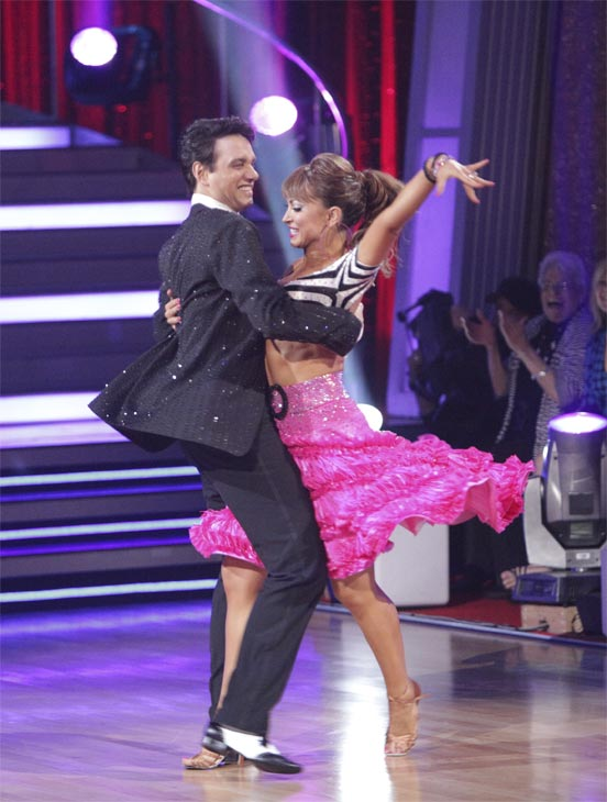 "<div class=""meta ""><span class=""caption-text "">Ralph Macchio and his partner Karina Smirnoff received 21 out of 30 from the judges for their Jive on week 2 of 'Dancing With The Stars' on Monday, March 28, 2011. Combined with the first week scores of 24 out of 30, their total is 45 out of 60. (ABC Photo/Adam Taylor)</span></div>"