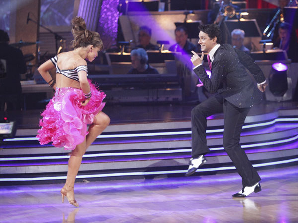 Ralph Macchio and his partner Karina Smirnoff received 21 out of 30 from the judges for their Jive on week 2 of 'Dancing With The Stars' on Monday, March 28, 2011. Combined with the first week scores of 24 out of 30, the