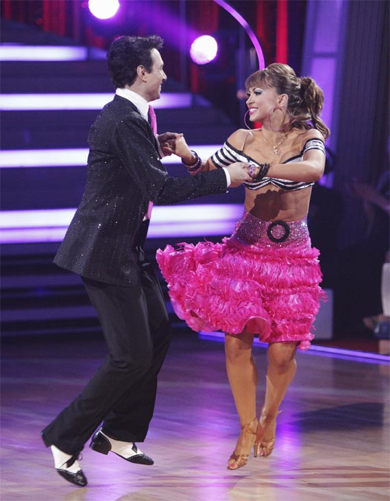Ralph Macchio and his partner Karina Smirnoff received 21 out of 30 from the judges for their Jive on week 2 of 'Dancing With The Stars' on Monday, March 28, 2011. Combined with the first week scores of 24 out of 30, their total is 45 out o