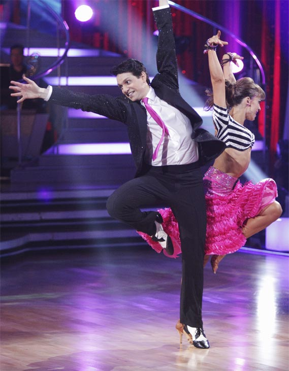 Ralph Macchio and his partner Karina Smirnoff received 21 out of 30 from the judges for their Jive on week 2 of 'Dancing With The Stars' on Monday, March 28, 2011. Combined with the first week scores of 24 out of 30, their total is 45 out of 60.