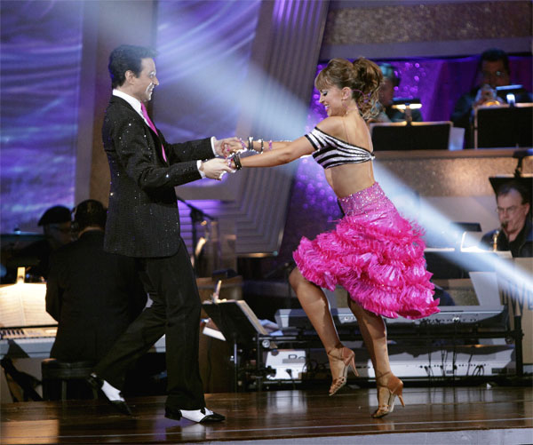 Ralph Macchio and his partner Karina Smirnoff received 21 out of 30 from the judges for their Jive on week 2 of 'Dancing With The Stars' on Monday, March 28, 2011. Combin