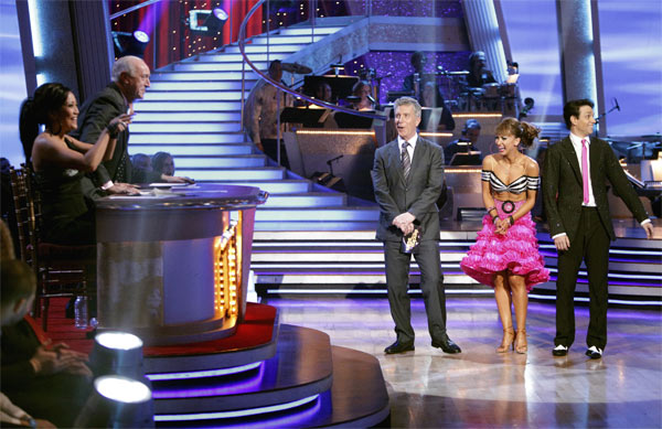 Ralph Macchio and his partner Karina Smirnoff received 21 out of 30 from the judges for their Jive on week 2 of &#39;Dancing With The Stars&#39; on Monday, March 28, 2011. Combined with the first week scores of 24 out of 30, their total is 45 out of 60. <span class=meta>(ABC Photo&#47;Adam Taylor)</span>