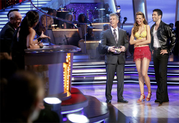 Petra Nemcova and her partner Dmitry Chaplin received 18 out of 30 from the judges for their Jive on week 2 of 'Dancing With The Stars' on Monday, March 28, 2011. Combined with the first week scores of