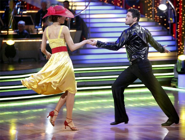 "<div class=""meta ""><span class=""caption-text "">Petra Nemcova and her partner Dmitry Chaplin received 18 out of 30 from the judges for their Jive on week 2 of 'Dancing With The Stars' on Monday, March 28, 2011. Combined with the first week scores of 18 out of 30, their total is 36 out of 60.  (ABC Photo/Adam Taylor)</span></div>"