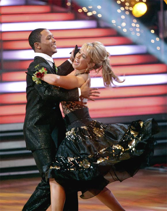 "<div class=""meta ""><span class=""caption-text "">Romeo and his partner Chelsie Hightower received 23 out of 30 from the judges for their Quickstep on week 2 of 'Dancing With The Stars' on Monday, March 28, 2011. Combined with the first week scores of 19 out of 30, their total is 42 out of 60. (ABC Photo/Adam Taylor)</span></div>"
