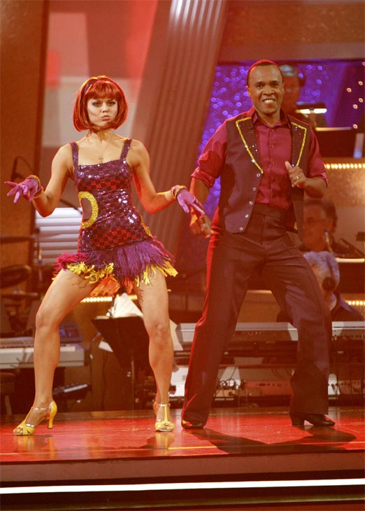 "<div class=""meta ""><span class=""caption-text "">Sugar Ray Leonard and his partner Anna Trebunskaya received 17 out of 30 from the judges for their Jive on week 2 of 'Dancing With The Stars' on Monday, March 28, 2011. Combined with the first week scores that were also 17 out of 30, their total is 34 out of 60. (ABC Photo/Adam Taylor)</span></div>"