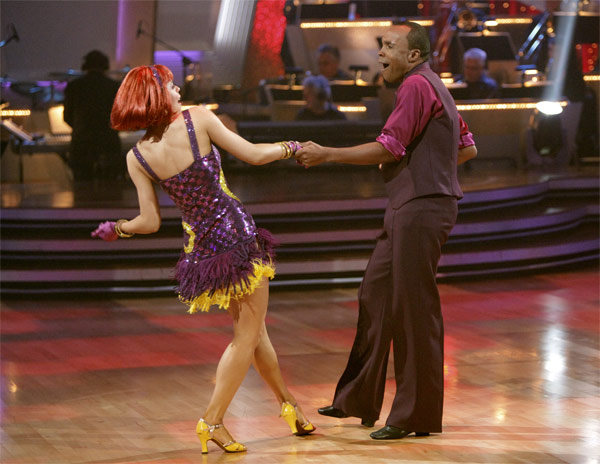 Sugar Ray Leonard and his partner Anna Trebunskaya received 17 out of 30 from the judges for their Jive on week 2 of &#39;Dancing With The Stars&#39; on Monday, March 28, 2011. Combined with the first week scores that were also 17 out of 30, their total is 34 out of 60. <span class=meta>(ABC Photo&#47;Adam Taylor)</span>