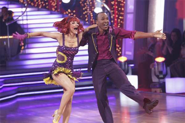 Sugar Ray Leonard and his partner Anna Trebunskaya received 17 out of 30 from the judges for their Jive on week 2 of 'Dancing With The Stars' on Monday, March 28, 2011. Combined wit
