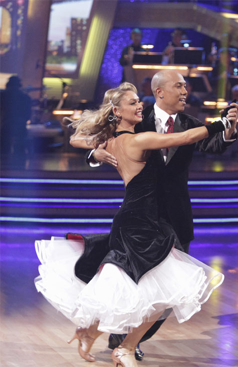 "<div class=""meta image-caption""><div class=""origin-logo origin-image ""><span></span></div><span class=""caption-text"">Hines Ward and his partner Kym Johnson received 23 out of 30 from the judges for their Quickstep on week 2 of 'Dancing With The Stars' on Monday, March 28, 2011. Combined with the first week scores of 21 out of 30, their total is 44 out of 60.  (ABC Photo/Adam Taylor)</span></div>"