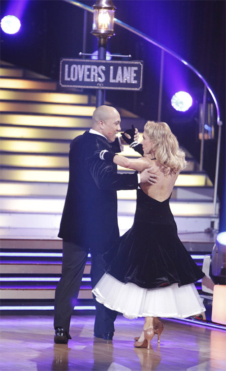 "<div class=""meta ""><span class=""caption-text "">Hines Ward and his partner Kym Johnson received 23 out of 30 from the judges for their Quickstep on week 2 of 'Dancing With The Stars' on Monday, March 28, 2011. Combined with the first week scores of 21 out of 30, their total is 44 out of 60.  (ABC Photo/Adam Taylor)</span></div>"