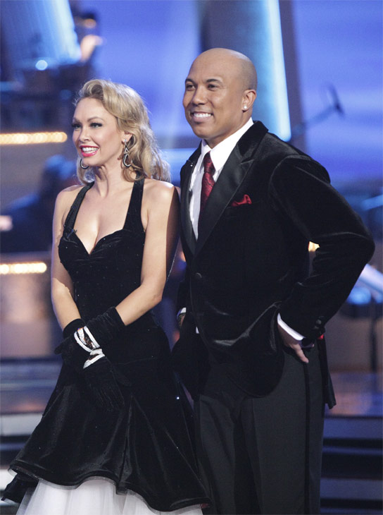 Hines Ward and his partner Kym Johnson received 23 out of 30 from the judges for their Quickstep on week 2 of 'Dancing With The Stars' on Monday, March 28, 2011. Combined with the first week scores of 21 out of 30, their total is