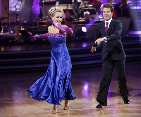 "<div class=""meta ""><span class=""caption-text "">Kendra Wilkinson and her partner Louis van Amstel received 19 out of 30 from the judges for their Quickstep on week 2 of 'Dancing With The Stars' on Monday, March 28, 2011. Combined with the first week scores of 18 out of 30, their total is 37 out of 60. (ABC Photo/Adam Taylor)</span></div>"