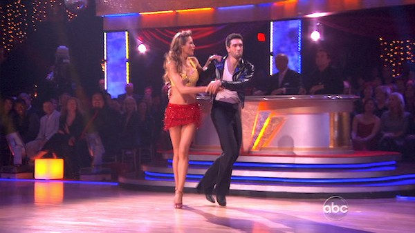 "<div class=""meta ""><span class=""caption-text "">Petra Nemcova and her partner Dmitry Chaplin received 18 out of 30 from the judges for their Jive on week 2 of 'Dancing With The Stars' on Monday, March 28, 2011. Combined with the first week scores of 18 out of 30, their total is 36 out of 60.  (OTRC Photo)</span></div>"