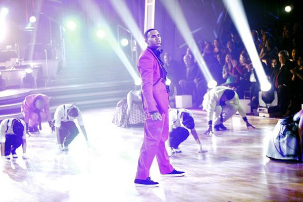 Chris Brown stopped by to perform his hit single 'Forever' and his newest hit 'Yeah 3X,' from his new album, 'F.A.M.E.,' on 'Dancing With The Stars: The Results Show,' Tuesday, March 29,