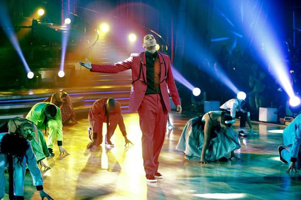 Chris Brown stopped by to perform his hit single 'Forever' and his newest hit 'Yeah 3X,' from his new album, 'F.A.M.E.,' on 'Dancing With The Stars: The Results Show,' Tuesday, March 29, 201