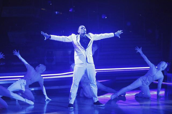 "<div class=""meta image-caption""><div class=""origin-logo origin-image ""><span></span></div><span class=""caption-text"">Chris Brown stopped by to perform his hit single 'Forever' and his newest hit 'Yeah 3X,' from his new album, 'F.A.M.E.,' on 'Dancing With The Stars: The Results Show,' Tuesday, March 29, 2011. (ABC Photo/Adam Taylor)</span></div>"