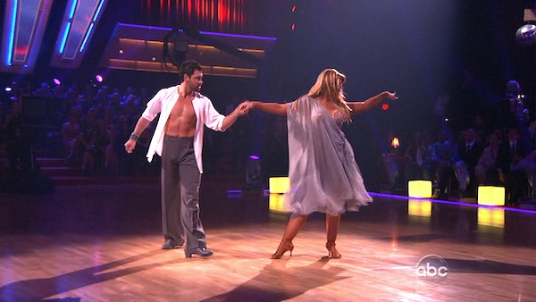 "<div class=""meta ""><span class=""caption-text "">Kirstie Alley and her partner Maksim Chmerkovskiy received 21 out of 30 from the judges for their Rumba on week three of 'Dancing With The Stars.' (ABC)</span></div>"