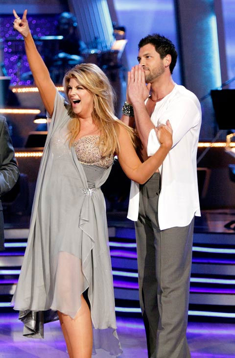 Kirstie Alley and her partner Maksim Chmerkovskiy dance Rumba on we