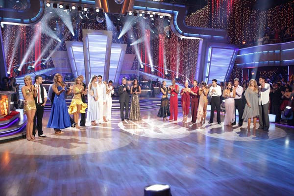 For 'Personal Story Week,' the couples featured dances including the Rumba, Paso Doble, Samba, Cha Cha, Waltz and Foxtrot, on the third episode of 'Dancing with the Stars.' (Pictured: Kirstie Alley, Maksim Chmerkovskiy, Cheryl Burke, Chri