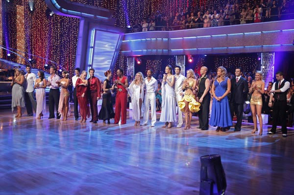 For &#39;Personal Story Week,&#39; the couples featured dances including the Rumba, Paso Doble, Samba, Cha Cha, Waltz and Foxtrot, on the third episode of &#39;Dancing with the Stars.&#39; &#40;Pictured: Kirstie Alley, Maksim Chmerkovskiy, Cheryl Burke, Chris Jericho, Karina Smirnoff, Ralph Macchio, Kendra Wilkinson, Louis Van Amstel, Anna Trebunskaya, Sugar Ray Leonard, Chelsie Hightower, Romeo, Petra Nemcova, Dmitry Chaplin, Kym Johnson, Hines Ward, Wendy Williams, Tony Dovolani, Chelsea Kane and Mark Ballas.&#41; <span class=meta>(ABC&#47;Adam Taylor)</span>