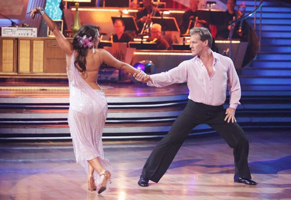 "<div class=""meta ""><span class=""caption-text "">Chris Jericho and his partner Cheryl Burke received 21 out of 30 from the judges for their Rumba on week three of 'Dancing With The Stars.'  (ABC/Adam Taylor)</span></div>"