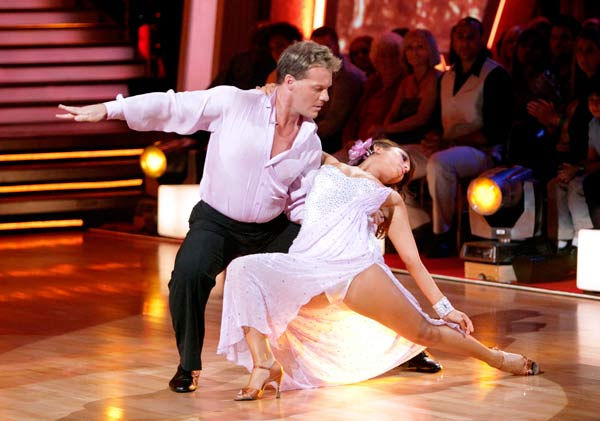 Chris Jericho and his partner Cheryl Burke received 21 out of 30 from the judges for their Ru