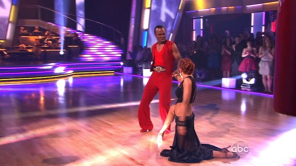 Sugar Ray Leonard and his partner Anna Trebunskaya received 20 out of 30 from the judges for their Paso Doble on week three of &#39;Dancing With The Stars.&#39; <span class=meta>(ABC&#47;Adam Taylor)</span>