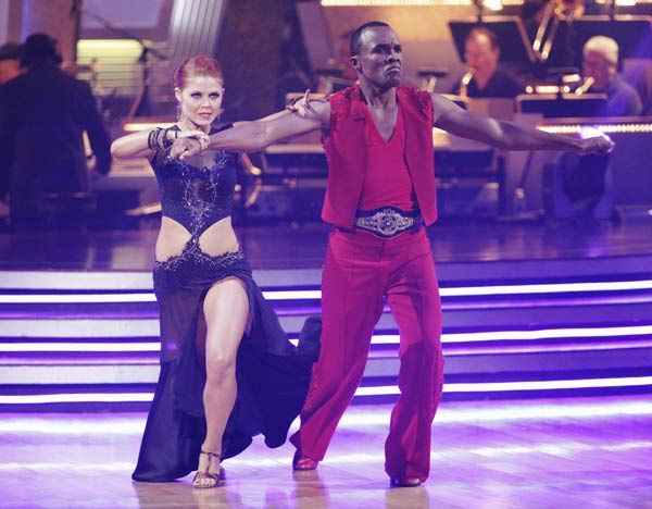 Sugar Ray Leonard and his partner Anna Trebunskaya received 20 out of 30 from the judges for their Paso Doble on week three of 'Dancing With T