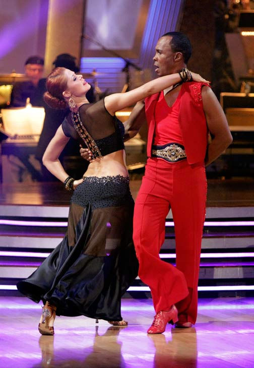 Sugar Ray Leonard and his partner Anna Trebunskaya received 20 out of 30 from the judges for their Paso Doble on week three of 'Dancing Wit