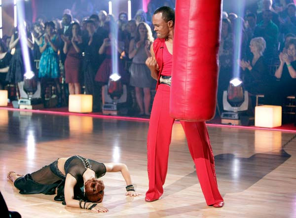 Sugar Ray Leonard and his partner Anna Trebunskaya received 20 out of 30 from the judges for their Paso Doble on week three