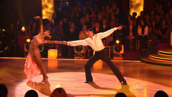 "<div class=""meta image-caption""><div class=""origin-logo origin-image ""><span></span></div><span class=""caption-text"">Ralph Macchio and his partner Karina Smirnoff received 21 out of 30 from the judges for their Rumba on week three of 'Dancing With The Stars.' (ABC)</span></div>"