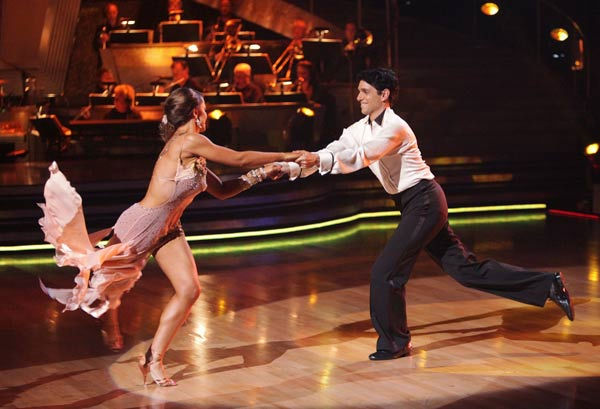 Ralph Macchio and his partner Karina Smirnoff received 21 out of 30 from the judges for their Rumba on we