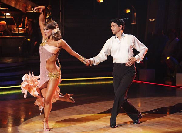 "<div class=""meta ""><span class=""caption-text "">Ralph Macchio and his partner Karina Smirnoff received 21 out of 30 from the judges for their Rumba on week three of 'Dancing With The Stars.' (ABC/Adam Taylor)</span></div>"