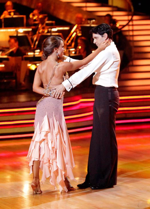 Ralph Macchio and his partner Karina Smirnoff received 21 out of 30 from the judges for their Rumba on week three of &#39;Dancing With The Stars.&#39; <span class=meta>(ABC&#47;Adam Taylor)</span>