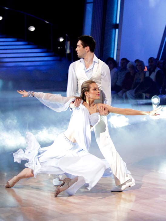 "<div class=""meta image-caption""><div class=""origin-logo origin-image ""><span></span></div><span class=""caption-text"">Petra Nemcova and her partner Dmitry Chaplin received 25 out of 30 from the judges for their Waltz on week three of 'Dancing With The Stars.' (ABC/Adam Taylor)</span></div>"