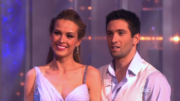 Petra Nemcova and her partner Dmitry Chaplin received 25 out of 30 from the judges for their Waltz on week three of &#39;Dancing With The Stars.&#39; <span class=meta>(ABC)</span>