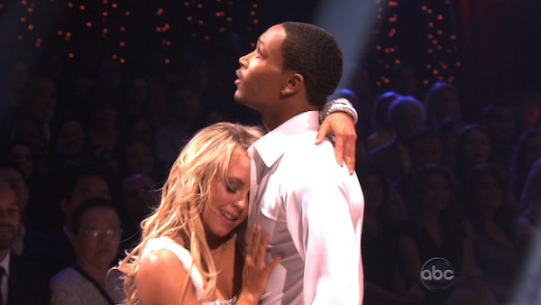 Romeo and his partner Chelsie Hightower received 20 out of 30 from the judges for their Rumba on