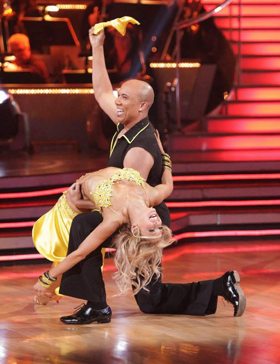 Hines Ward and his partner Kym Johnson received 25 out of 30 from the judges for their Samba on week three of 'Dancing With The Stars.'