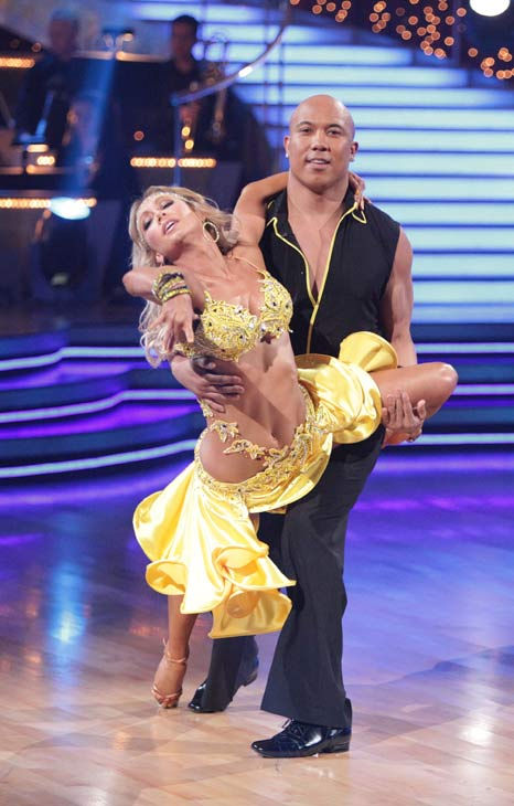 Hines Ward and his partner Kym Johnson received 25 out of 30 from the judges for their Samba on week three of 'Dancing With Th