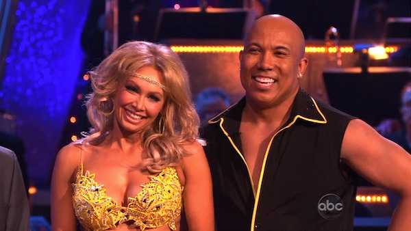Hines Ward and his partner Kym Johnson received 25 out of 30 from the judges for their Samba on week three