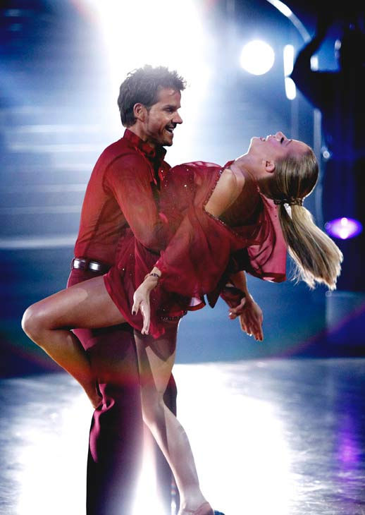 Kendra Wilkinson and her partner Louis van Amstel received 23 out of 30 from the judges for their Rumba on episode 3 of 'Dancing With The St