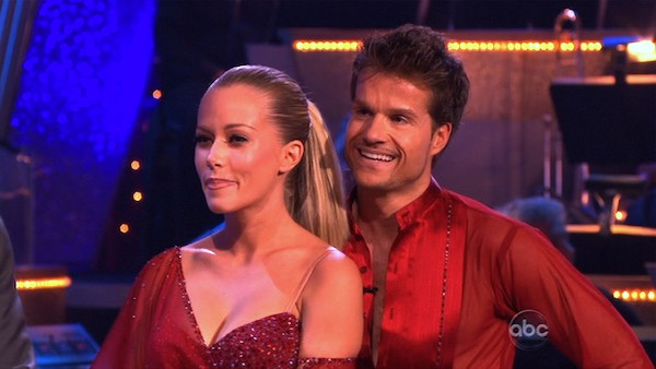 Kendra Wilkinson and her partner Louis van Amstel received 23 out of 30 from the judges for thei