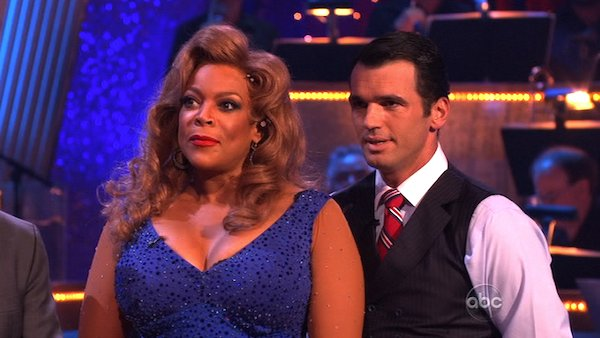 Wendy Williams and her partner Tony Dovolani received 15 out of 30 from the judges for