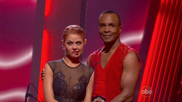 "<div class=""meta ""><span class=""caption-text "">Sugar Ray Leonard and his partner Anna Trebunskaya await possible elimination. The couple received 20 out of 30 from the judges for their Rumba on week three of 'Dancing With The Stars' on Monday, April 4, 2011.  (OTRC Photo)</span></div>"