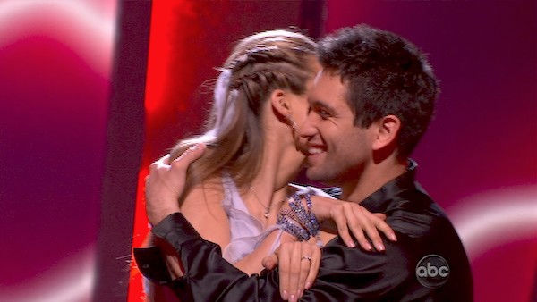 "<div class=""meta image-caption""><div class=""origin-logo origin-image ""><span></span></div><span class=""caption-text"">Petra Nemcova and her partner Dmitry Chaplin react to being safe from elimination. The couple received 25 out of 30 from the judges for their Rumba on week three of 'Dancing With The Stars' on Monday, April 4, 2011.  (OTRC Photo)</span></div>"