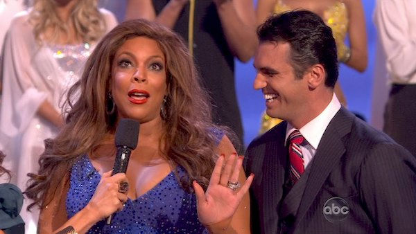 Wendy Williams reacts to being eliminated....
