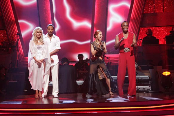 "<div class=""meta image-caption""><div class=""origin-logo origin-image ""><span></span></div><span class=""caption-text"">Sugar Ray Leonard and his partner Anna Trebunskaya react to being safe from elimination. The couple received 20 out of 30 from the judges for their Rumba on week three of 'Dancing With The Stars' on Monday, April 4, 2011.  (ABC Photo/ Adam Taylor)</span></div>"